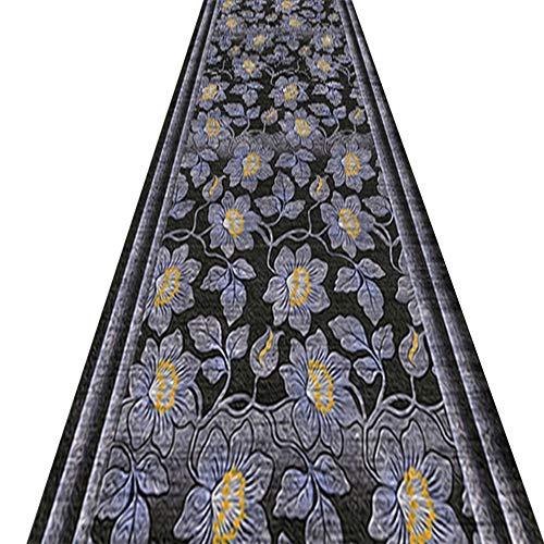 QIANMEI Tappeti Runner,Tappeto corridoio Durevole Passatoia Tappeto | pianta Retro Motivo Floreale | for Corridoio Cucina Indoor Front Door (Color : A, Size : 0.8x7m)