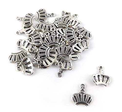 Oferta al por mayor: 5 paquetes de 30 x plata antigua tibetana 14mm corona encanto/colgante W5-ZX08080 (cuentas encantadoras)