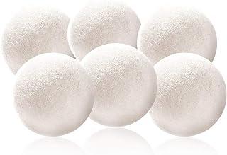 Decdeal 6er Trocknerbälle Trocknerkugeln aus Wolle zur Nutzung im Trockner
