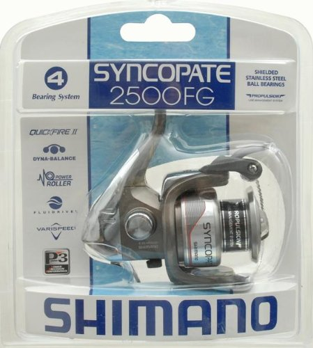 Shimano Reels Spinning SC2500FGC Syncopate 2500Spinning Reel, Quick Fire Ii