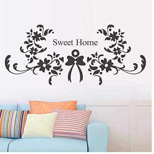 Flower Sweet Bedroom Living Room Backdrop Removable Waterproof Vinyl decoracion hogar Wall Stickers Vintage Home Decor