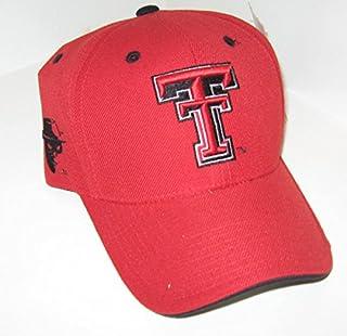 brand new 600ef afdc4 Colosseum Texas Tech University Red Raiders TT Red Top Champion Adult  Mens Boys Adjustable Baseball