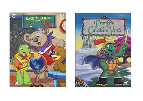 Offerta 2 DVD Franklin, Back To School e Il Cavaliere Verde, Cartoni Animati, Buona Animazione per Bambini 3 - 6 Anni NO Walt Disney