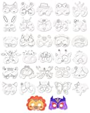 32 Pcs Blank Painting Paper Mask for Coloring Children Animal Craft DIY Graffiti Masks for Kids Party/Cosplay/Kids Hand Painting Crafts Birthday Favors Circus