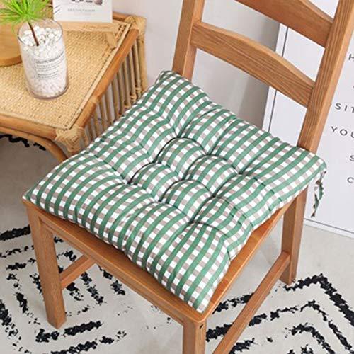 Cómodo cojín de la silla de oficina, de corte a mano de coser con cepillado tela impresa del amortiguador de asiento antideslizante suave lavable amortiguador grueso duradero for coxis, la cadera y do