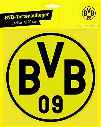Borussia Dortmund Logo Tortenaufleger, Cake Toppers, essbare Torten Auflage BVB (A/Wir)