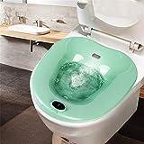 AQzxdc Bain Bidet portatif, Traitement des Patients hémorroïdes pour Les Femmes Enceintes, au-Dessus de la Toilette, Bain de...