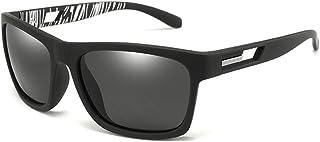 SGJFZD Sports PC Frame UV400 Polarized Sunglasses Riding Ultra Light Men's Colorful Eye Protection Sunglasses (Color : Black)