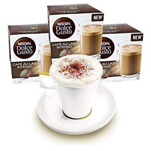 Nescafé DOLCE GUSTO Tassen Geschenkset, 3 Packungen mit Becher Café au lait Intenso, Kaffee, Milchkaffee, Kaffeekapsel, Kapseln