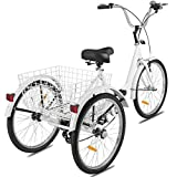 Adult Tricycles 24 Inches 7 Speed 3...