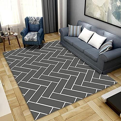 Alfombra de dormitorio antideslizante de 60 x 90 cm, cómoda alfombra de yoga, para niños, sala de estar, dormitorio, alfombra de interior, alfombra de jardín (red blanca)