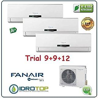 Climatizador Trial 3Split Aire acondicionado inverter dc fanair-fantini Cosmi–9+ 9+ 12BTU/h