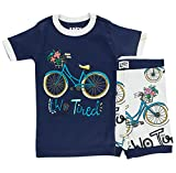 Lazy One Short-Sleeve Summer PJ Sets for Girls and Boys, Kids Pajama Sets, Bicycle, Outdoors, Adventure,...