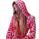Women Pink Heart Print Zip Up Velvet Crop Hoodies Y2K Long Sleeve Kawaii Cropped Sweatshirts Autumn Winter Clothes