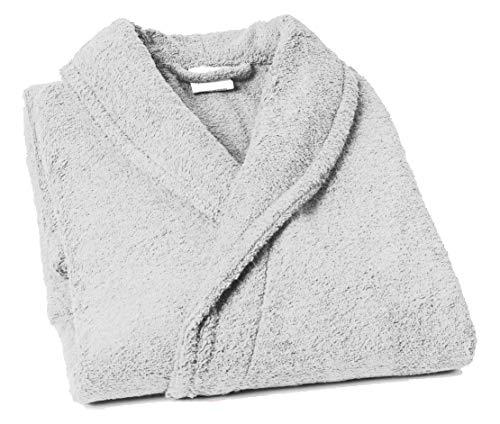 Home Basic - Peignoir col châle, Taille S, Couleur Blanc