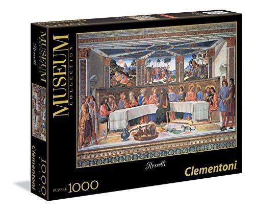 Clementoni - Puzzle de 1000 Piezas, Vaticano, diseño Rosselli: La Última Cena (392896)