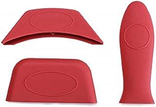 Kitchen Heat Resistant Fry Pan Milk Pot Sleeve Grip Handle Cover Potholder for Cast Iron Skillets Griddles Metal & Aluminu...