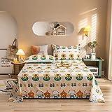 DBDA 1 Pieza de sábana de algodón 100% Puro para Cama Doble, Estampado Floral, sábana Plana Queen King Size (Funda de Almohada al por Menor)-9 MT mengchongHY_Lamiera Piana_Los 230x250cm