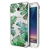 Funda Samsung Galaxy J5 2016, Eouine Cárcasa Silicona 3D Transparente con Dibujos Diseño Suave Gel TPU [Antigolpes] de Protector Case Fundas para Movil Samsung J52016-5,2 Pulgadas (Hojas)
