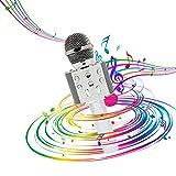OLEO Micrófono Altavoz Karaoke inalámbrico, Bluetooth Speaker, Grabación de Voz, Función Selfie con Luces Led, Tarjeta Micro, Compatible con iPhone, iPad, Android,Regalo para Niños, Juguete Infantil.
