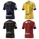 Maillot de Rugby pour Homme,2020 Nouvelle-Zélande Chiefs/Crusaders/Hurricane/Highlanders Rugby Polo Shirt Training T-Shirt,Supporter Football Sport Top, Cadeau d'anniversaire-Blue-XL