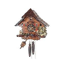 Alexander Taron 4929 Engstler Weight-Driven Cuckoo Clock-Full Size-10 H x 11 W x 7 D, Brown