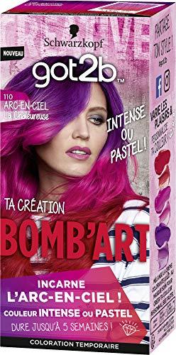 Schwarzkopf - Got2B - Bomb'Art - Coloration Semi Permanente Cheveux - Arc-En-Ciel 110 La Chaleureuse - 20 ml