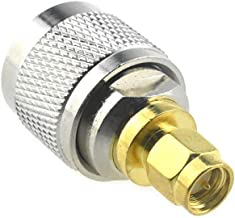 Boscoqo UHF Male to SMA Male Adapter PL 259 SO239 Type RF Coax Coaxial Connector Fitting Adaptor Smooth Threads Solid Low ...