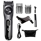 Beard Trimmer for Men, Professional Adjustable Hair Trimmer Kit With Dial Fast USB Charge Cordless 38 Length Setting, Rechargeable Mens Hair Clippers for Body, Mustache, Hair
