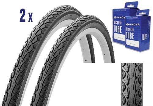Classic Cycle 2X Reifen für Trekking oder City Bike 28 x 1.50 mit Schlauch, E-Bike Zulassung