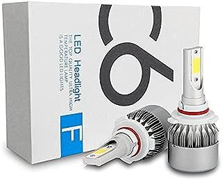 ICBEAMER 9006 HB4 LED COB 12V 36W Canbus Direct Plugin Super White 6000K for Low Beam/Fog Light Headlight Lamps Bulbs