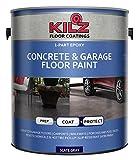 KILZ L377711 1-Part Epoxy Acrylic Interior/Exterior Concrete and Garage Floor Paint, Satin, Slate Gray, 1-Gallon, 1 Gallon, 128 Fl Oz