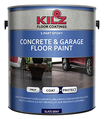 KILZ L377711 1-Part Epoxy Acrylic Interior/Exterior Concrete and Garage Floor Paint,...