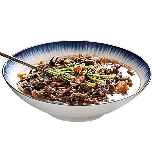 Home kitchen products - Cuenco de utensilios de cocina-cerámica, juego de tazón grande de porcelana, grandes tazones de ensaladas, tazón grande de cerámica como tazón ramen, cuenco de pho, tazón de so