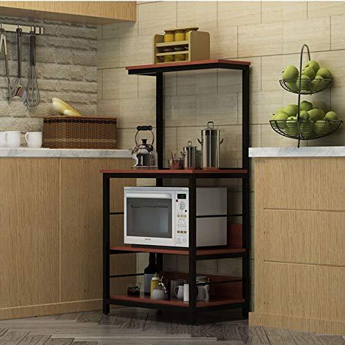 Estantes Organizadores de Almacenamiento de Cocina 4-Tier cocina rack Utilidad del horno microondas soporte de almacenamiento de la compra de estaciones de trabajo estante Estante de la Estación de Tr
