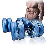 LONGH Una Nuova Coppia di Acqua Flessibile Dumbbell Heavey Peso Dumbbell Palestra di casa Esercizio Attrezzature Nero for Il Bodybuilding (Color : Blue, Size : 5-10KG Pair of Dumbbells)