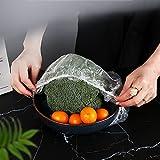 Papel Film Cocina La Envoltura de Plástico Transparente La Llenura de Envoltura de Saran Pe Se Pueden Usar Discos con Un Diámetro de 10-28 Cm Mantenga Los Alimentos Fres(Size:200PCS,Color:Transparent)