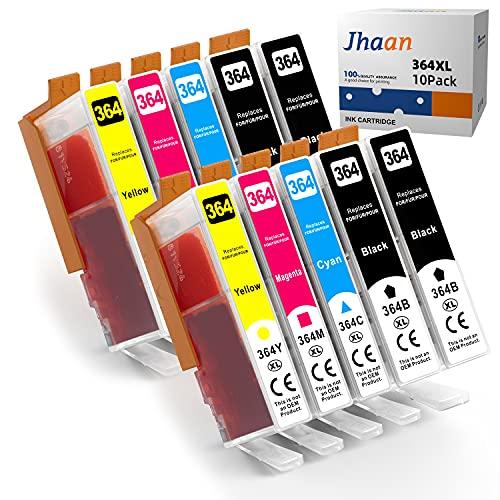 Jhaan 364XL - Cartuchos de tinta de repuesto para HP 364XL (compatible con HP Deskject 3520 3070 Photosmart 5510 5524 7510 6510 6520 Officejet 4620 4622 (4 negro, 2cian, 2 magenta, 2 amarillo)