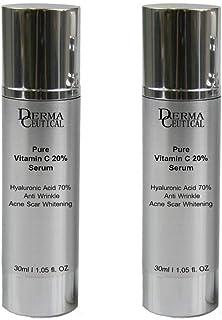 x2 Pure Vitamin C 20% Serum Hyaluronic Acid 70% Anti Wrinkle Acne Scar Whitening – DermaCeutical