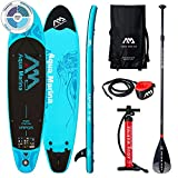 Aquamarina Vapor SUP Stand Up Paddle Board with Paddle, Leash, Magic Back Pack and Double Action Pump
