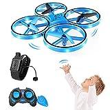 SNAPTAIN SP300 Drohne mit Blaue LED, RC Quadrocopter mit 3 Fernbedienungen, 2 Akkus für 14 Minuten,...