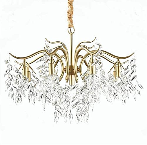 YQCH Sala de Estar Cristal Lámpara de araña Dormitorio Creativo Iluminación Personalidad Lámpara de Arte 7 Lámpara de Rama de árbol 60 cm / 23.62 Pulgada Luz Colgante