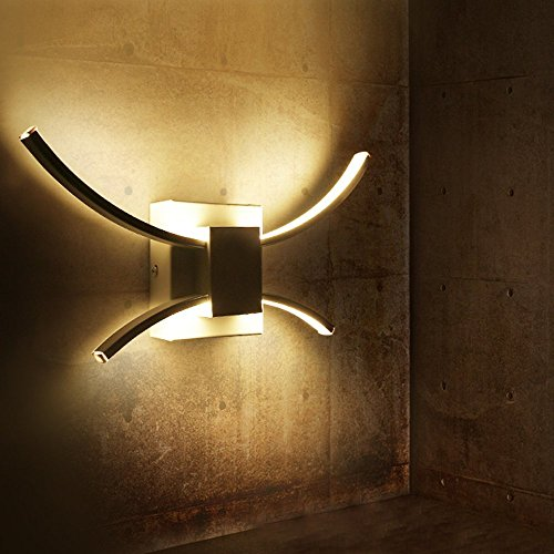 Lámpara de Pared, Aplique LED 10W Iluminación Nocturna Luz Interior de Pared...