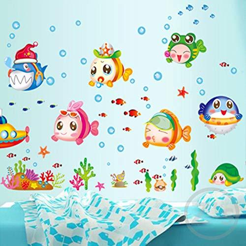 Muursticker viszeekarton muursticker voor douche tegelstickers in de badkamer voor kinderen kinderbad