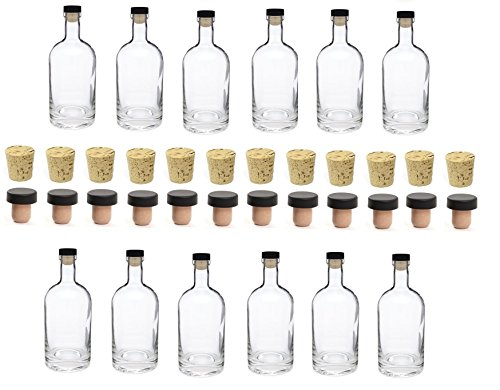 Nakpunar 12 pcs 25 oz Heavy Base Glass Bottles 750 ml – Made in the USA