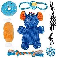 Superbe Jouet Chiot - Toozey jouet chiot comprend différents types de jouets, jouets de couinement (donut, os, éléphant) et jouets à mâcher, qui sont adaptés à la santé physique et mentale de votre chien. Sûr et de haute qualité - Toozey Jouet Chiot ...