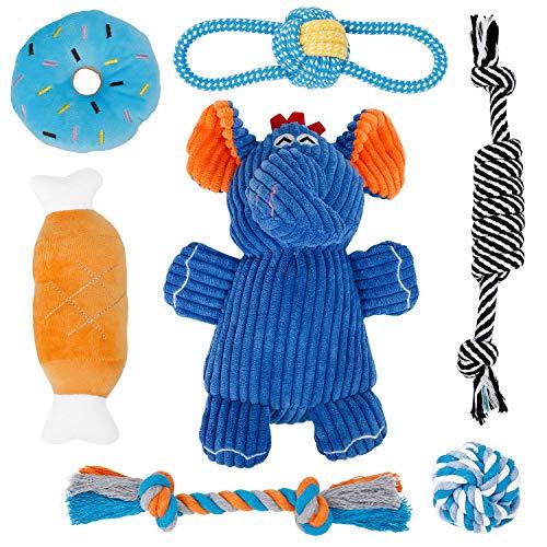 Toozey Welpenspielzeug Hunde Spielsachen - 7 STK Spielzeug Hund Hundepielzeug Kleine Hunde Hundespielzeug Welpe - Kuscheltier für Hunde Hundespielzeug Intelligenz Hunde Zubehör - Naturbaumwolle