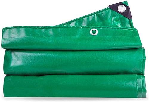vertLZ Bache imperméable de PVC extérieure imperméable avec Le Camping de Voiture Couvert de bache d'épaississeHommest Anti-UV perforé