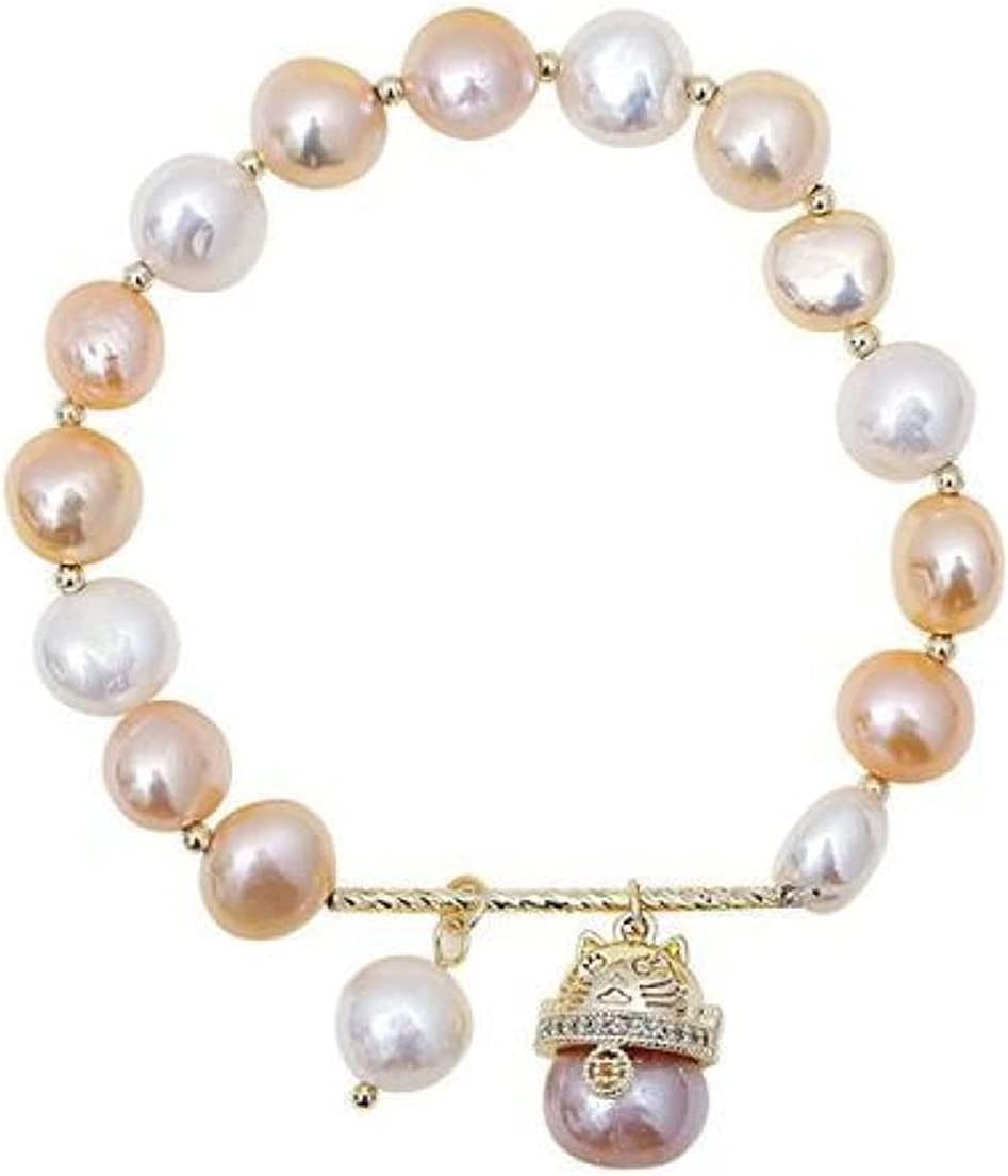 HSHUIJP Bracelet for Max 67% OFF Women Freshwater Light s Luxury Pearl Ranking TOP17