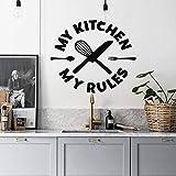 JHGJHGF Küche Wandtattoos Meine Küche Meine Regeln Vinyl Wandaufkleber Esszimmer Innenarchitektur Dekoratives Besteck Wandbild